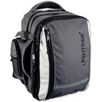 04021068460779 | Lightpak Vantage Backpack with Detachable Laptop Bag Nylon Capacity 17in Grey Ref 46077