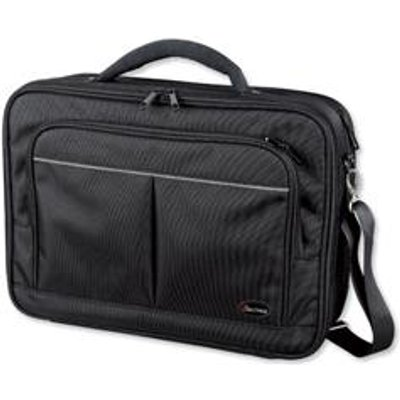 04021068460298 | Lightpak Executive Laptop Bag Padded Multi section Nylon Capacity 17in Black Ref 46029