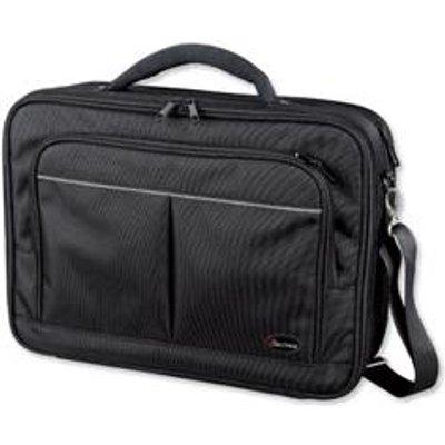Lightpak Executive Laptop Bag Padded Multi section Nylon Capacity 17in Black Ref 46029 - 04021068460298