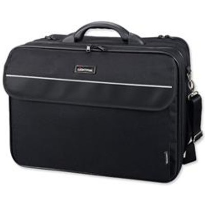 04021068460755 | Lightpak Corniche Multifunction Nylon with Laptop Compartment Capacity 17in Black Ref 46075