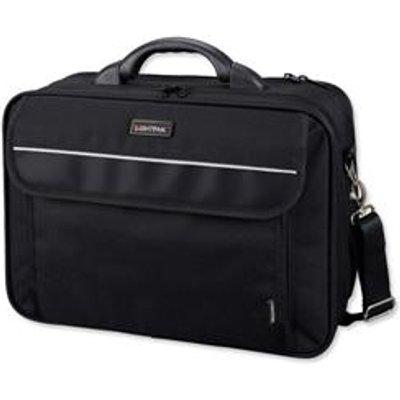Lightpak Arco Laptop Bag Padded Nylon Capacity 17in Black Ref 46010 - 04021068460106