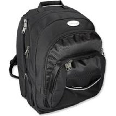 04021068460908 | Lightpak Advantage Backpack Nylon with Detachable Laptop Sleeve Capacity 17in Black Ref 46090