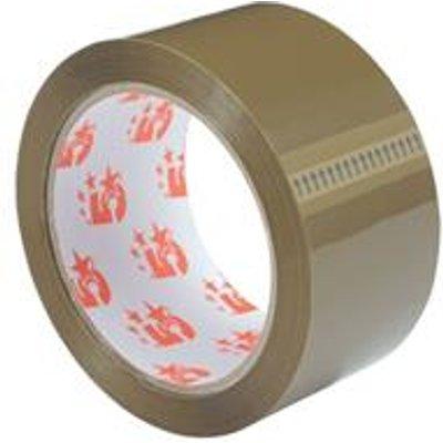 5 Star Office Packaging Tape Polypropylene 50mm x 66m Buff [Pack 12]