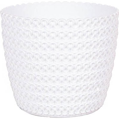 Jersey White Cachepot 14cm Potcover