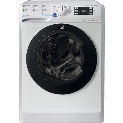 1400rpm Washing Machine 9kg Load Class A+++ White/Black