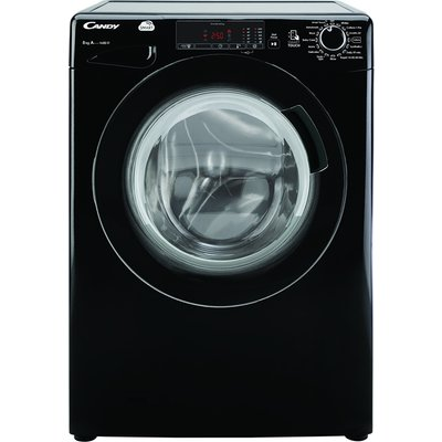 1400rpm Washing Machine 8kg Load Class A+++ Black