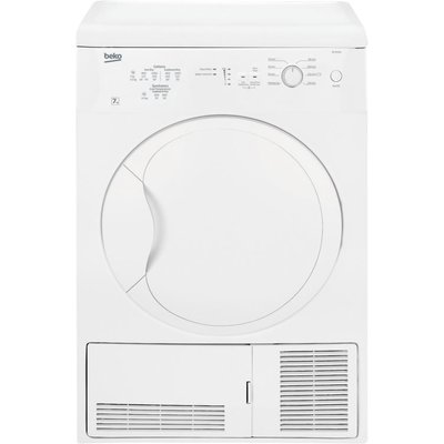 This slim depth condenser dryer has LED progress indicator lights so you can easily keep track of your cycle. Its anti-crease feature will reduce creases in your garments until you're ready to unload.  Great for any family's everyday drying needs, this 7k