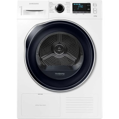 The energy efficient Heat Pump Technology is Samsung's latest innovation, making sure that your clothes are optimally dried while saving on your power consumption. While the Wrinkle Free program limits the creasing in your clothes to make ironing easier,