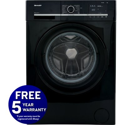 1400rpm 7kg Washing Machine Class A++ Black