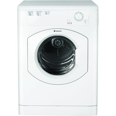 """""This Hotpoint FETV60CP vented tumble dryer from Hotpoint Appliances offers great value for money. The drum holds 6kg of laundry and it has a high and low heat setting to choose from so you can use a lower heat for your delicate"