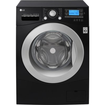 1400rpm DD Washing Machine 12kg Load Class A+++ Black