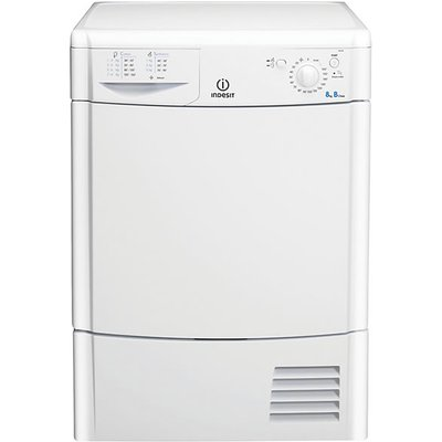 Enjoy fresh, dry, tangle-free clothes with the Indesit IDC8T3B Condenser Tumble Dryer in smart white. The IDC8T3B Dryer benefits from dual anti-tangle rotation which reduces the chance of your clothes tangling and getting creased, making ironing a breeze.