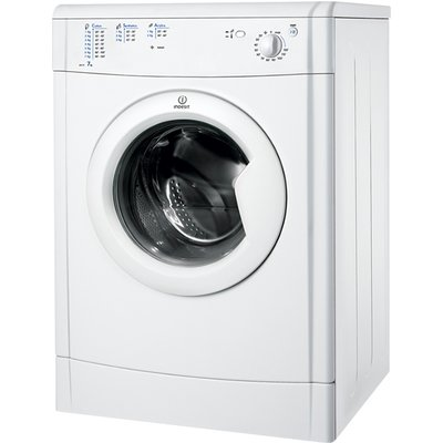 With the Indesit IDV75W Vented Tumble Dryer's 12 different drying programmes, you are guaranteed perfect drying results every time, no matter what fabric you are drying. With a great Dual tumble action you can also save time on your ironing chores. T
