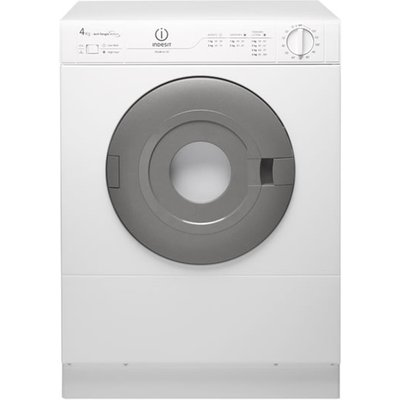 """""ThE IS41V compact front vented Tumble Dryer from Indesit Appliances is ideal for small homes and where the space is at a premium, this 4 kg dryer will take care at drying your laundry when the weather is too bad outside to put on the washing l"
