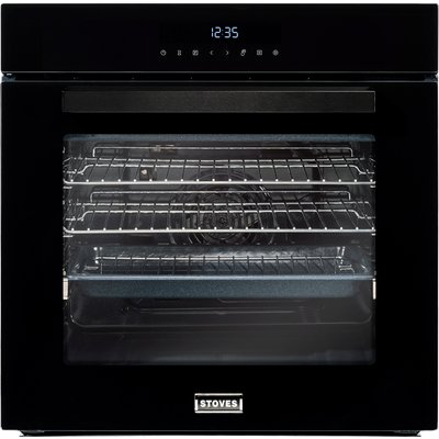 600mm Built in Single Electric Oven Multifunction Black - 5052263101401