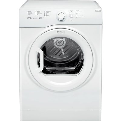 """""The Hotpoint TVFS 73B GP (UK) Freestanding Vented Tumble Dryer comes in a classic white finish to complement any setting and features a 7kg drum capacity. This appliance is designed to protect your garments and features some of our newest care"
