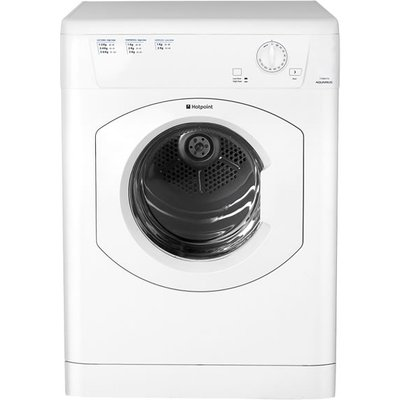 Hotpoint Appliances have added another Vented Tumble Dryer to their Aquarius Range - The TVHM80CP. The big 8 Kg drum is big enough to dry a lot of items so you will make less drying loads. It features a high and low heat setting button so you can adjust t