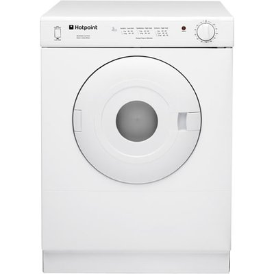 The Hotpoint V4D01P Vented Tumble Dryer has a 4kg load capacity, perfect for couples or if you live on your own. It has high and low heat settings to suit your needs and it is finished off with a final cool tumble so your clothes can be ready to wear. It