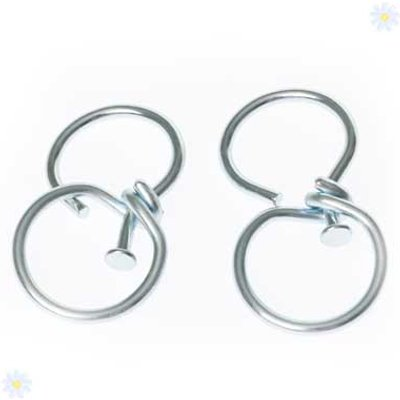 Pair of hanging basket swivel hooks