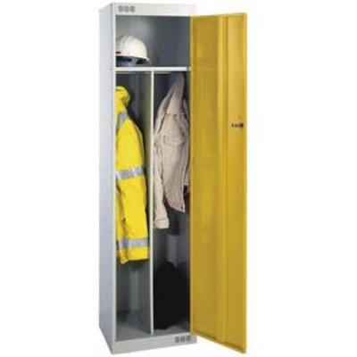 LOCKER CLEAN & DIRTY STANDARD 1800X450X450 L.GREY/YELLOW DR