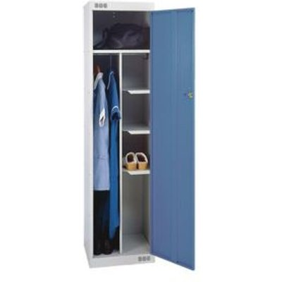 LOCKER NURSES-STANDARD 1800X450X450 L.GREY/BLUE DOOR