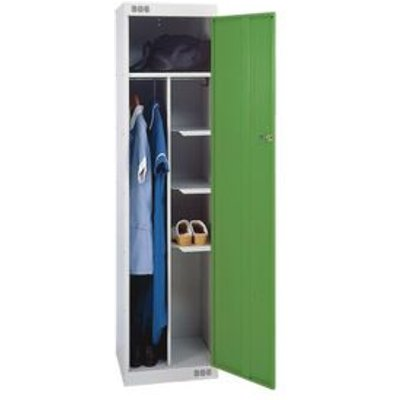 LOCKER NURSES-STANDARD 1800X450X450 L.GREY/GREEN DOOR