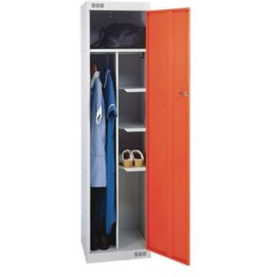 LOCKER NURSES-STANDARD 1800X450X450 L.GREY/RED DOOR
