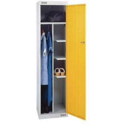 LOCKER NURSES-STANDARD 1800X450X450 L.GREY/YELLOW DR