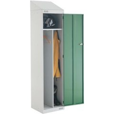 LOCKER SLOPING TOP CLEAN DIRTY 1950X450X450 L.GREY/GREEN DOOR