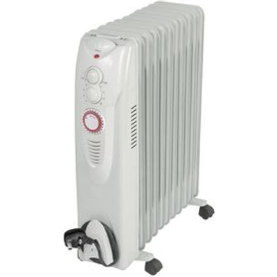 2.5KW OIL FILLED RADIATOR WITH 24 HR TIMER