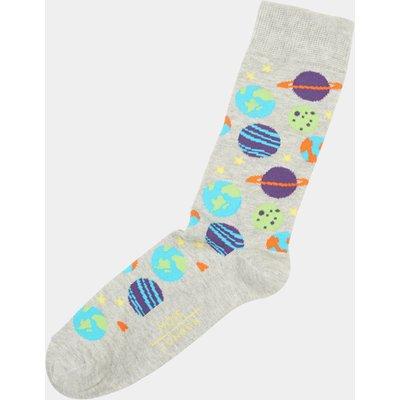 Moss London Grey Marl Planet Socks