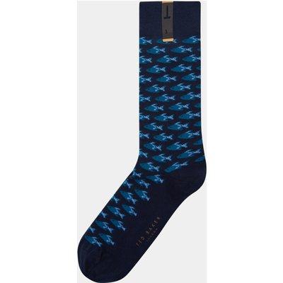 Ted Baker Fiorfo Navy Fish Socks