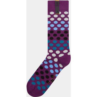 Ted Baker Lundude Purple Spotted Socks