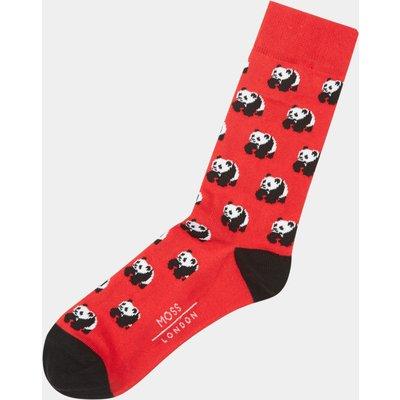 Moss London Red Panda Socks
