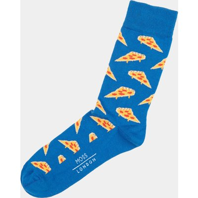 Moss London Cobalt Pizza Socks