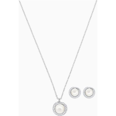 Originally Set, White, Rhodium plated
