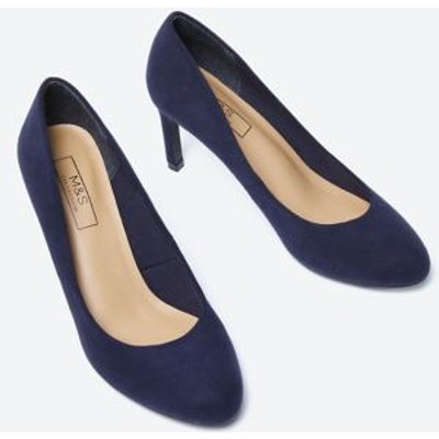 M&S Womens Stiletto Heel Court Shoes - 3 - Navy, Navy
