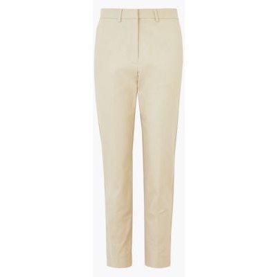 M&S Autograph Womens Cotton Slim Fit Ankle Grazer Trousers - 6 - Opaline, Opaline