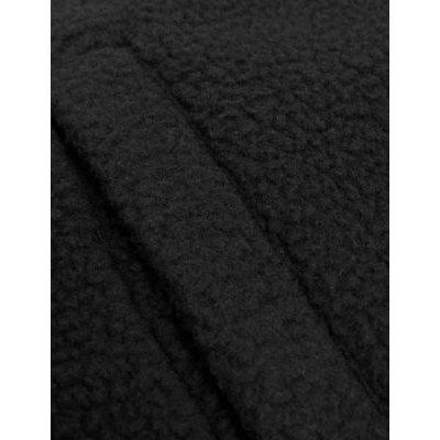 M&S Goodmove Womens Borg Funnel Neck Oversized Fleece Jacket - 16 - Black, Black,Beige