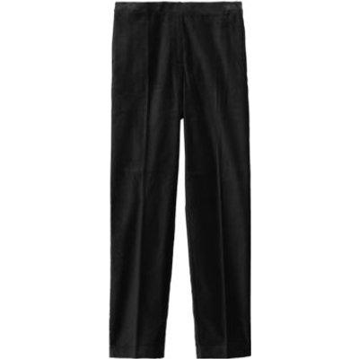 M&S Womens Velvet Slim Fit Ankle Grazer Trousers - 8SHT - Black, Black,Navy