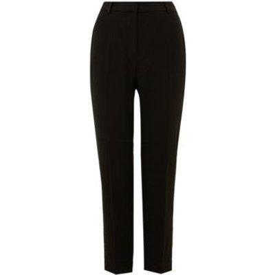 M&S Womens PETITE Slim Fit Ankle Grazer Trousers - 6XSH - Black, Black,Dark Navy