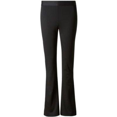 M&S Womens Jersey Slim Fit Bootcut Trousers - 8SHT - Black, Black