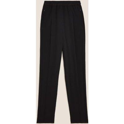 M&S Womens Tapered Ankle Grazer Trousers - 6SHT - Black, Black,Khaki,Blue,Neutral
