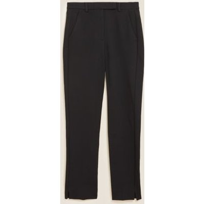 M&S Womens Mia Slim Jersey Ankle Grazer Trousers - 6SHT - Black, Black,Navy