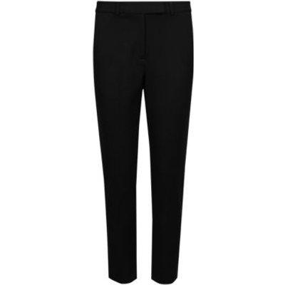 M&S The Everywear Trouser Womens PETITE Cotton Slim Leg Trousers - 6SHT - Black, Black