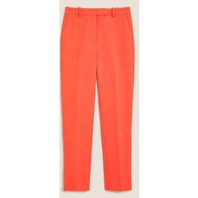 M&S Womens Mia Slim Ankle Grazer Trousers - 6SHT - Bright Red, Bright Red