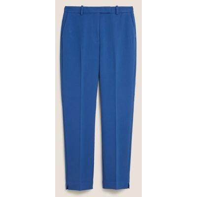 M&S Womens Slim Fit Ankle Grazer Trousers - 10REG - Dark Blue, Dark Blue
