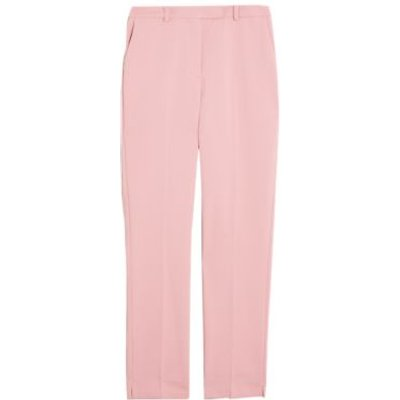 M&S Womens Mia Slim Cotton Ankle Grazer Trousers - 8LNG - Sunset, Sunset