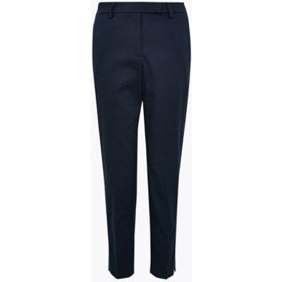 M&S Womens Cotton Slim Fit 7/8 Trousers - 6SHT - Dark Navy, Dark Navy,Winter White,Black,Coffee,Blue