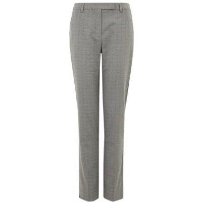 M&S Womens Mia Slim Pindot Ankle Grazer Trousers - 6REG - Grey Mix, Grey Mix